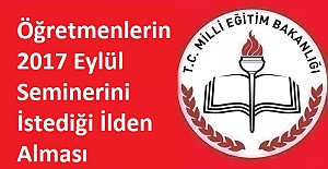 Öğretmenlerin 2017 Eylül Seminerini...